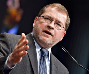 FILE -- In this Feb. 11, 2012 fie photo, anti-tax activist Grover Norquist, president of Americans for Tax Reform. addresses the Conservative Political Action Conference (CPAC) in Washington.  (AP Photo/J. Scott Applewhite, file)